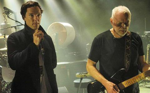 Benedikt Camberbetch ha cantato con David Gilmour il hit di Pink Floyd (Video)